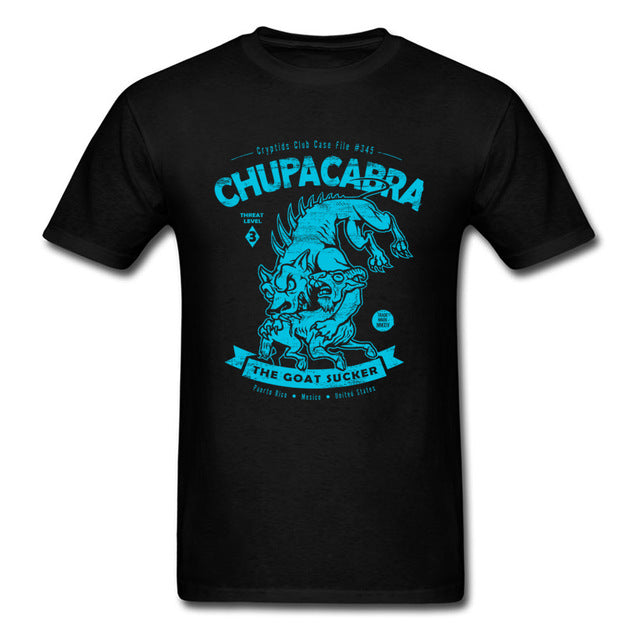Chupacabra T-shirt .Tops Tees Men T Shirt Monster Tshirt Unique Mens Summer Clothing
