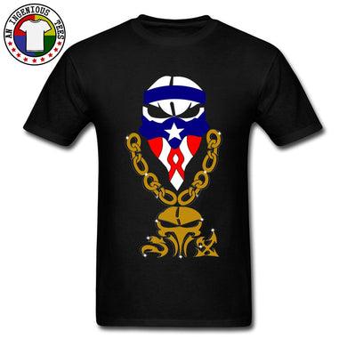New Cool T-Shirts On Sale PP Punishment Skull Mask Puerto Rico Cotton - aybendito