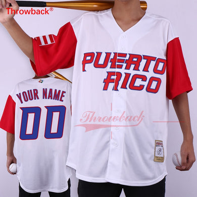 Throwback Jersey Men's Puerto Rico Movie Baseball Jerseys Customized Jersey Any Number Name Size S-3XL Free Shipping Cheap - aybendito