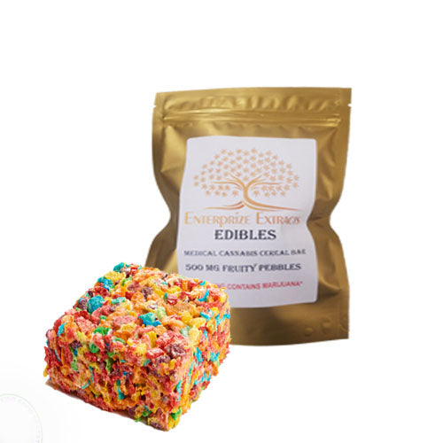 500mg Fruity Pebbles Cereal Bars by Enterprize Edibles