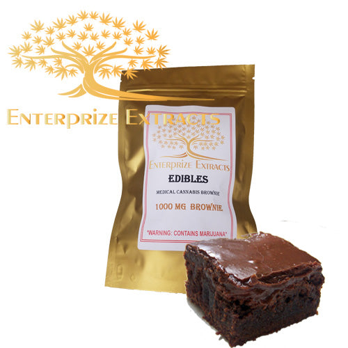 ***2x/$75  SALE*** 1000mg Brownie by Enterprize Edibles Brownie, Enterprize Edibles - Cloud Legends 420