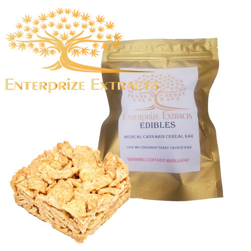 2x $75 -- 1000mg Cinnamon Toast Crunch Cereal Bar by Enterprize Edibles - Cloud Legends 420