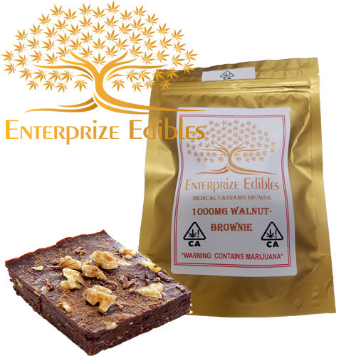 ***2x $75 SALE*** 1000mg Walnut Brownie by Enterprize Edibles Brownie, Cloud Legends 420 - Cloud Legends 420