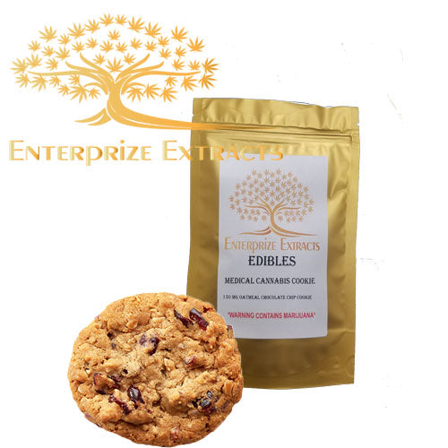 3x $50 -- 500mg Oatmeal Chocolate Chip Cookie by Enterprize Edibles Cookies, Enterprize Edibles - Cloud Legends 420