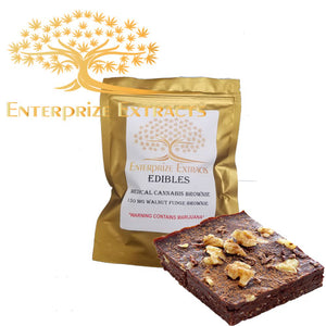 150mg Walnut Fudge Brownie by Enterprize Edibles - Cloud Legends 420