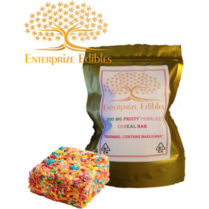 3x/ $40 - 300mg Fruity Pebbles Cereal Bar by Enterprize Edibles - Cloud Legends 420