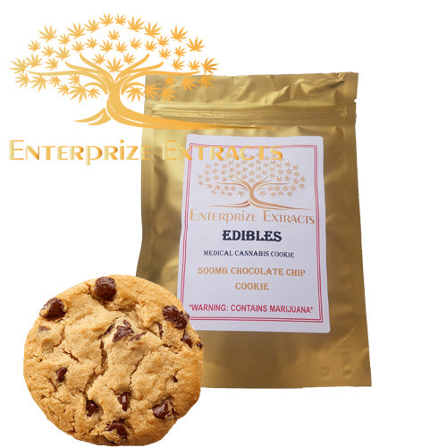 ***3x $50 SALE*** 500mg Chocolate Chip Cookie by Enterprize Edibles Cookies, Enterprize Edibles - Cloud Legends 420