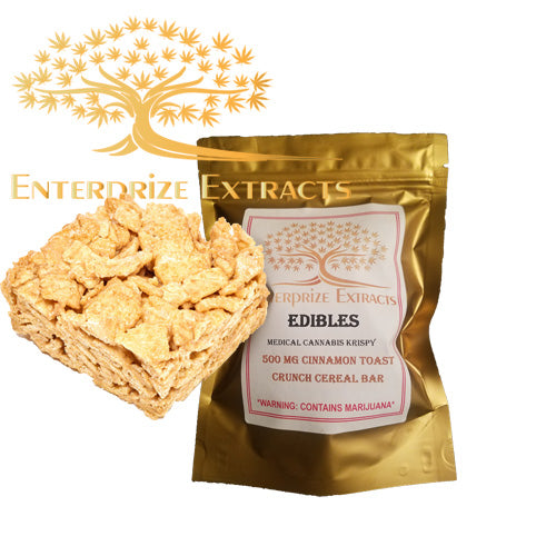 3x $50 -- 500mg Cinnamon Toast Crunch Cereal Bar by Enterprize Edibles - Cloud Legends 420
