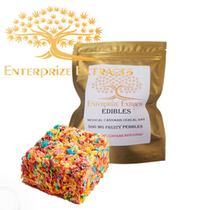 3x/$50 -- 500mg Fruity Pebbles Cereal Bar by Enterprize Edibles - Cloud Legends 420