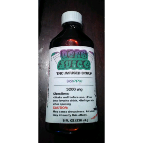 3200 mg THC Infused Syrup by Derb Juice 8 oz - Cloud Legends 420