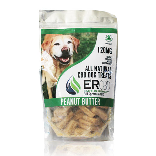 CBD DOG TREATS PEANUT BUTTER 120MG by Earth Remedies - Cloud Legends 420