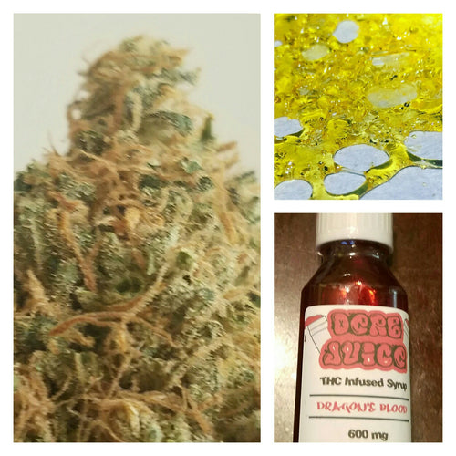 $75 Bundle -- 1/8 of Flower, 1/2 gram of Crumble, and 600 mg THC Syrup - Cloud Legends 420