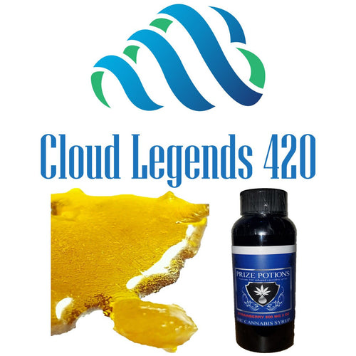 $50 Wax & Syrup Bundle -- 1 gram of Shatter or Crumble and 800 mg THC Syrup Bundles, Cloud Legends 420 - Cloud Legends 420