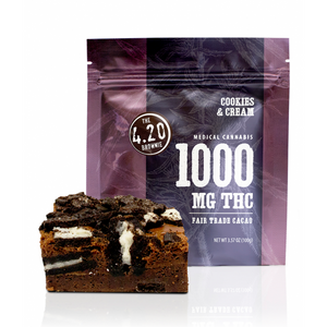 Cookies & Cream 4.20Brownie – 1000mg THC by Venice Cookie Company - Cloud Legends 420