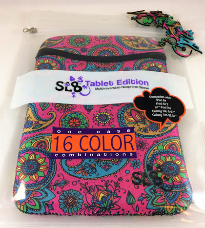 SL8 Multi-Reversible Neoprene Tablet Sleeve (Paisley) Smart&