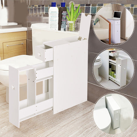 Floor Cabinet Drawers Stand Storage Unit Bath Kitchen Space Saver Bathroom&