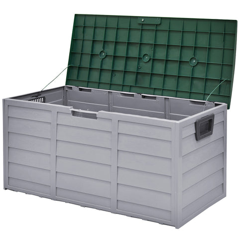 "44"" Deck Storage Box Outdoor Patio Garage Shed Tool Bench Container 70 Gallon Home & Garden"