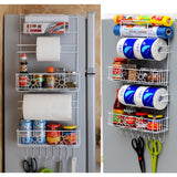 Over Fridge Wall Cabinet Organizer Kitchen 6 Tiers Storage Rack Holder Practical Kitchen&