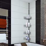 4 Layers Metal Shower Corner Pole Caddy Shelf Bathroom Wall Storage Rack Holder Bathroom&