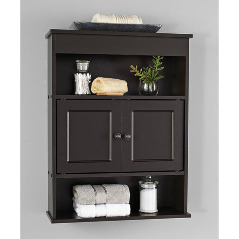 Chapter Bathroom Wall Medicine Cabinet Storage Shelf Espresso Vanity Towel Rack Bathroom&