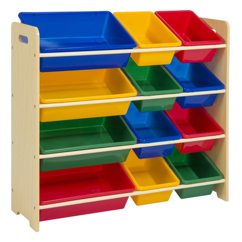 Toy Bin Organizer Kids Childrens Storage Box Playroom Bedroom Shelf Drawer KIDS'&