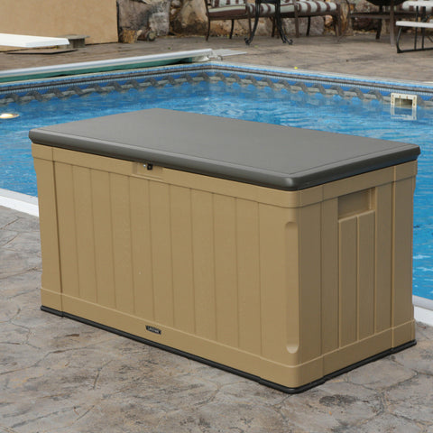 Lifetime Outdoor Storage 116 Gallon Large Deck Box bench weatherproof Home & Garden