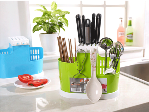 Kitchen Spoon Chopsticks Fork Knife Draining Rack Storage Tool Holder Organizer Kitchen&