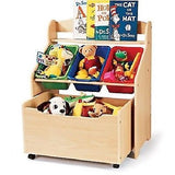 Kids Toy Box Storage Chest Bedroom Organizer Furniture Playroom Box With Cabinet Kids'&