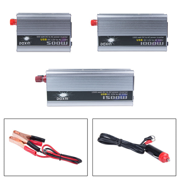 1500W Car Power Inverter Converter DC 12V to AC 220V Modified Sine Wave Power with USB