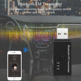 Car USB Bluetooth FM Transmitter Wireless Handsfree Car Kit Car Audio MP3 Player Car FM Modulator for iPhone Samsung Android