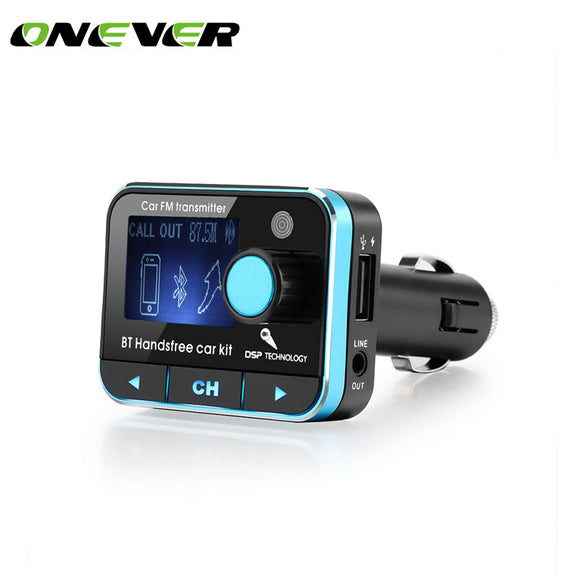FM Transmitter Bluetooth Car Kit MP3 Player Voltmeter Hands-free Call Wireless Modulator Car Charger  DC 9-26V