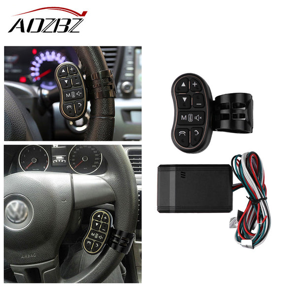 AOZBZ Car DVD GPS Player Steering Wheel Remote Controller Key Button for DVD Player GPS Navigation System