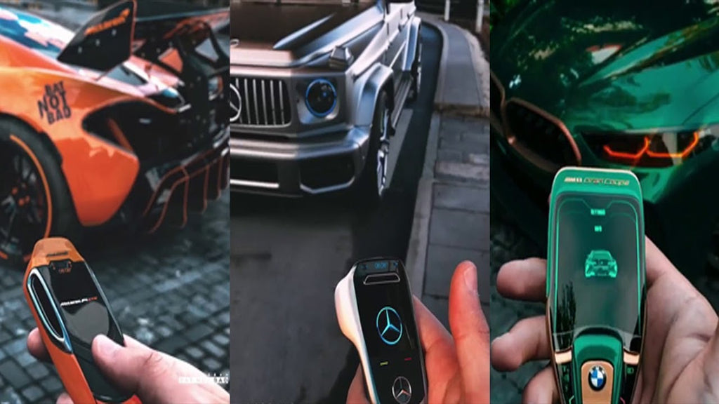Super Cool Concept Car Key Fob Designs | LCD Touch Screen Smart Key Fobs