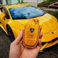 Luxo Premium Leather Key Glove Holder for Lamborghini Huracan, Aventador
