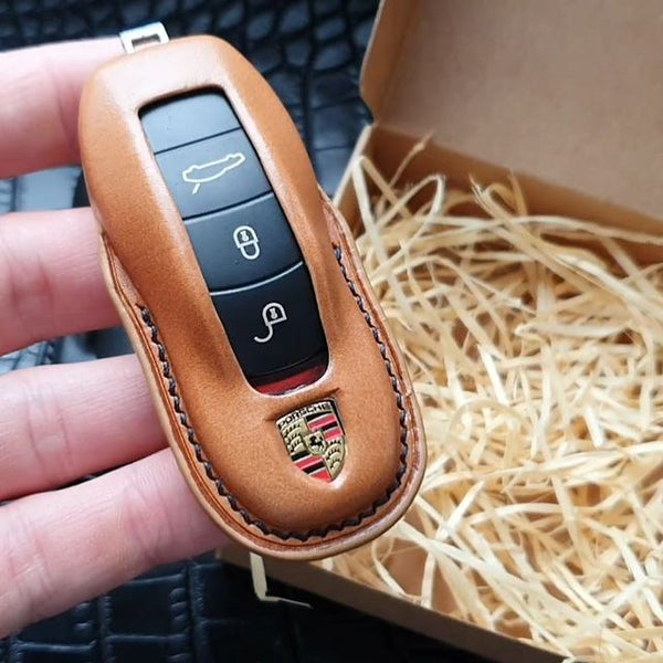 ESSEN - Handmade Smart Key Fob Case Cover Glove for 3, 4 Button Porsche