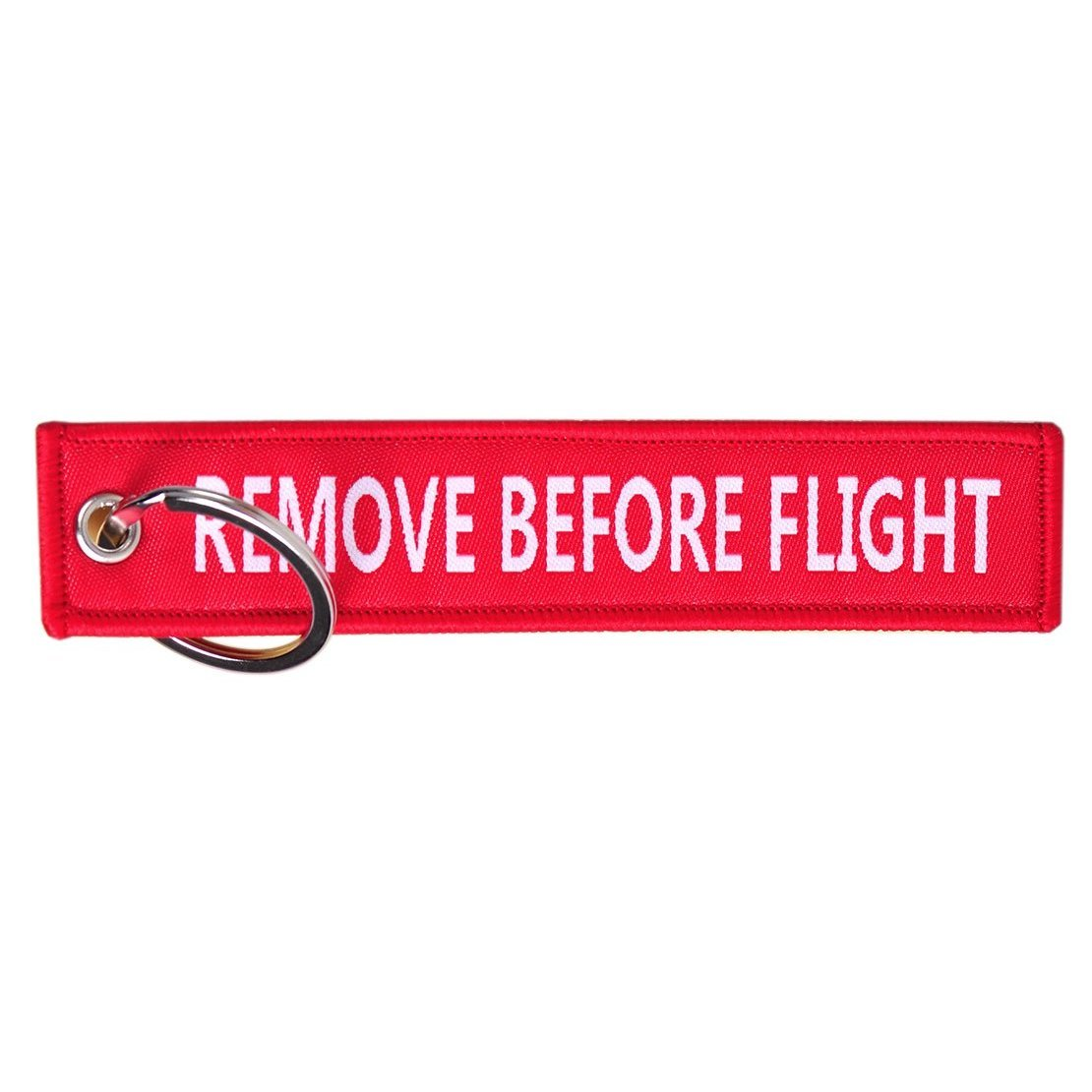 Remove Before Flight Key Tag Red Keychain Keyring - 1 PC