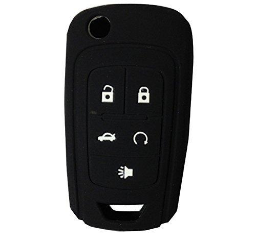 "Silicone 5 Button ""Flip"" Key Fob Remote Cover Jacket Skin for Chevrolet Camaro GMC Terrain Buick"