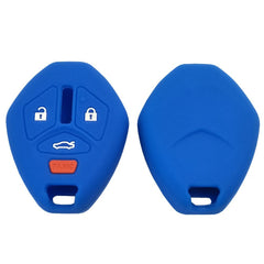 Mitsubishi 4 Button Protective Silicone Rubber Key Cover for Galant Lancer Outlander Mirage