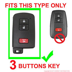 Silicone 3 Button Key Fob Remote Cover Skin Case for Toyota Tacoma Land Cruiser