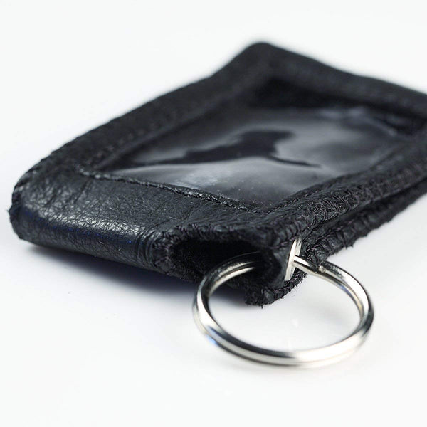Universal Car & Home Key Fob Remote Faux PU Vegan Leather Case Cover Pouch with Keyring