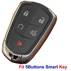 Silicone 5 Button Key Remote Rubber Protective Case Cover Jacket for Cadillac [SKU: CADS5A]