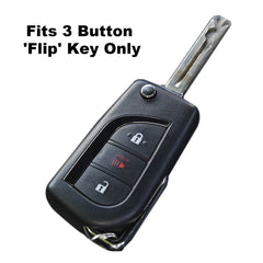 Silicone Rubber 3 Button Flip Key Fob Cover Remote Case Jacket Toyota C-HR, iM