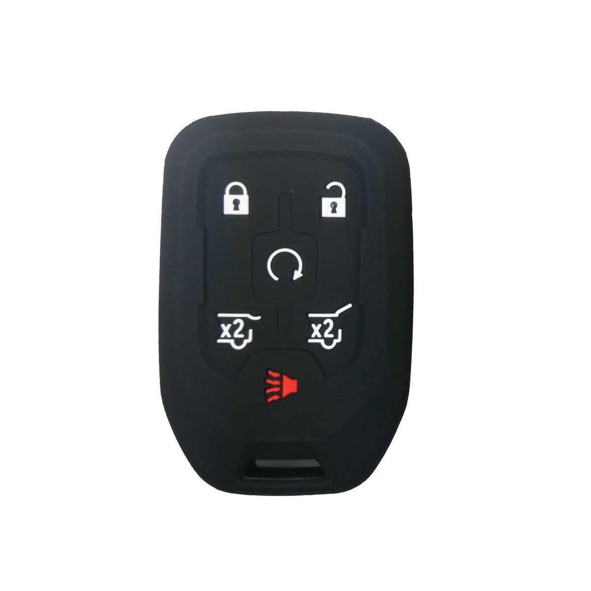 Chevrolet Chevy GMC 6 Button Smart Key Fob Remote Silicone Rubber Protective Cover Skin