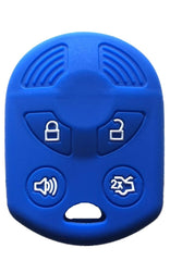 Silicone 4 Button Key Fob Cover Case Skin Jacket for Ford Lincoln Mercury Mazda