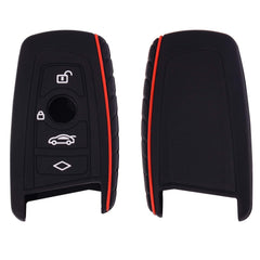 Silicone Rubber 3/4 Buttons Protective Car Key Fob Remote Control Case Cover for BMW (only Keyless Go) [BMWS4C v2]