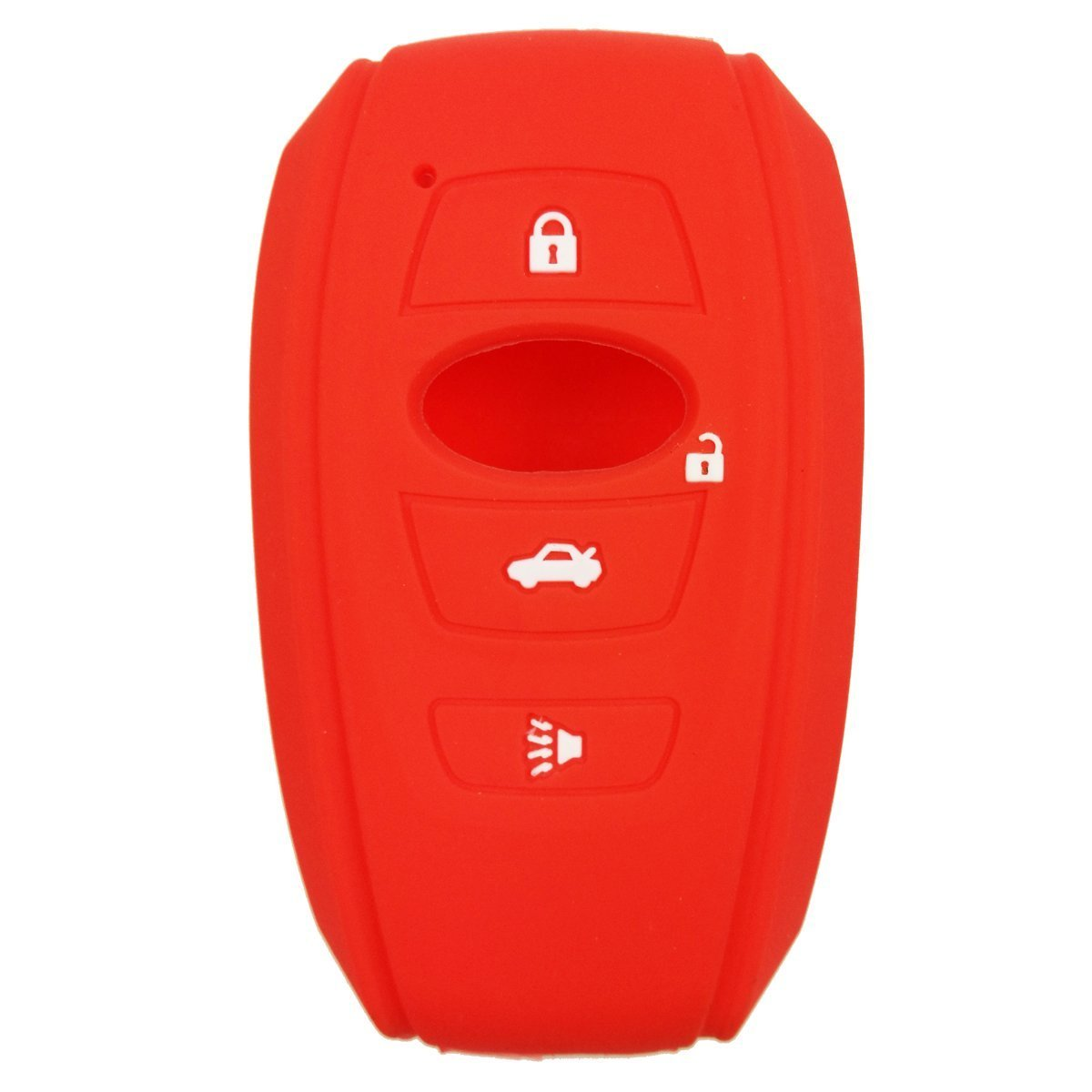 Silicone Rubber 4 Button Protective Smart Key Fob Remote Cover Case Jacket For Subaru