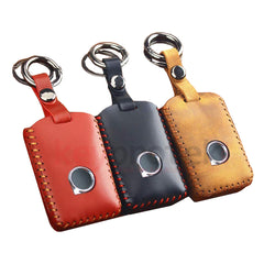 Leather PU Protective Smart Car Key Fob Cover Case with Keychain For Volvo XC40 XC60 S90 XC90 V90 (2017 and newer)