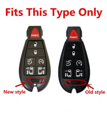 Silicone Keyless Entry Remote Control Protective Key Fob Cover Case For Chrysler Town & Country, Dodge Grand Caravan, Jeep