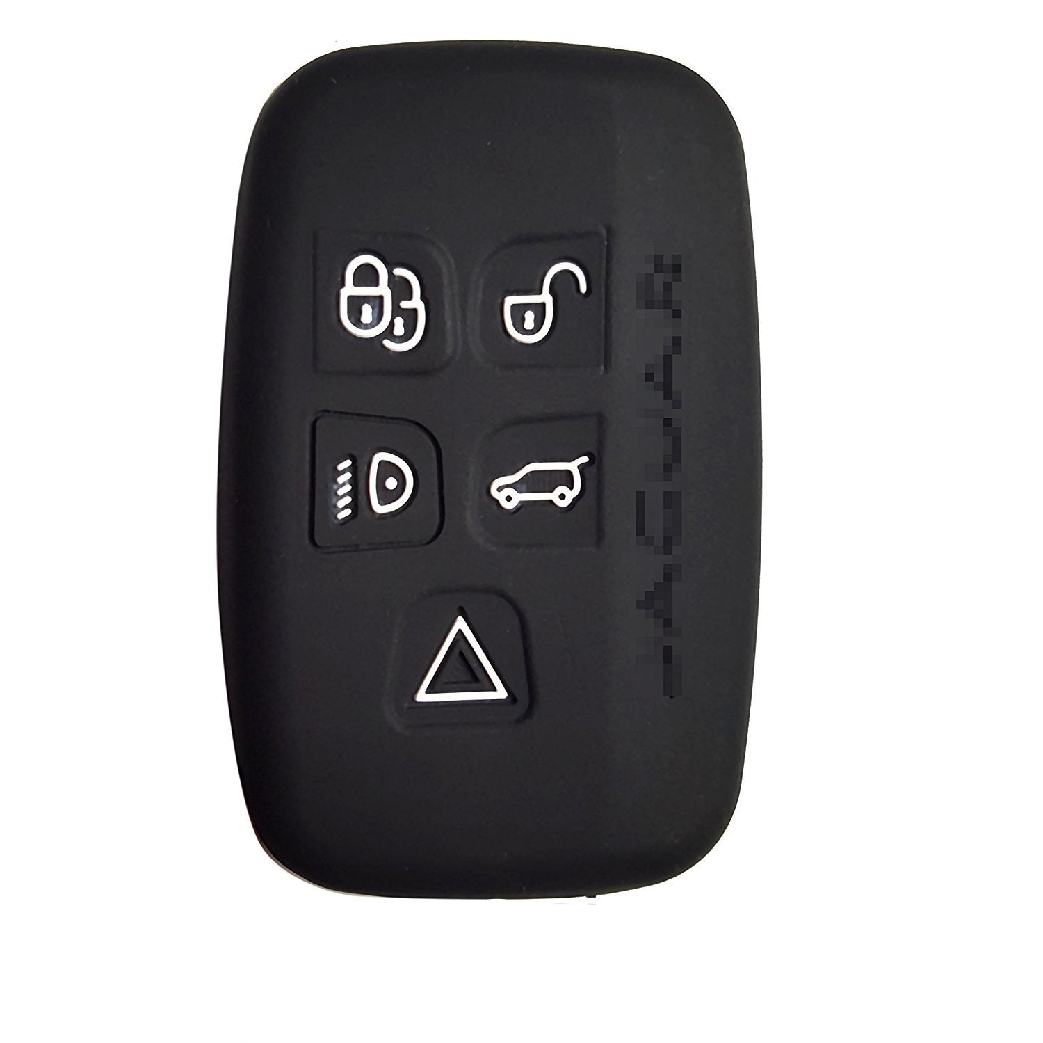 Silicone 5 Button Smart Key Fob Remote Case Cover Car for JAGUAR XK, XKR XF XFR XJ XJL S-Type X-Type F-Type