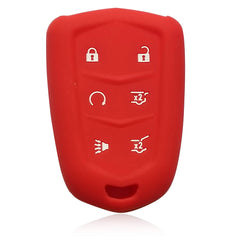 Silicone Rubber 6 Button Car Key Fob Cover Case Skin Jacket for Cadillac Escalade ESV XTS ATS CTS SRX